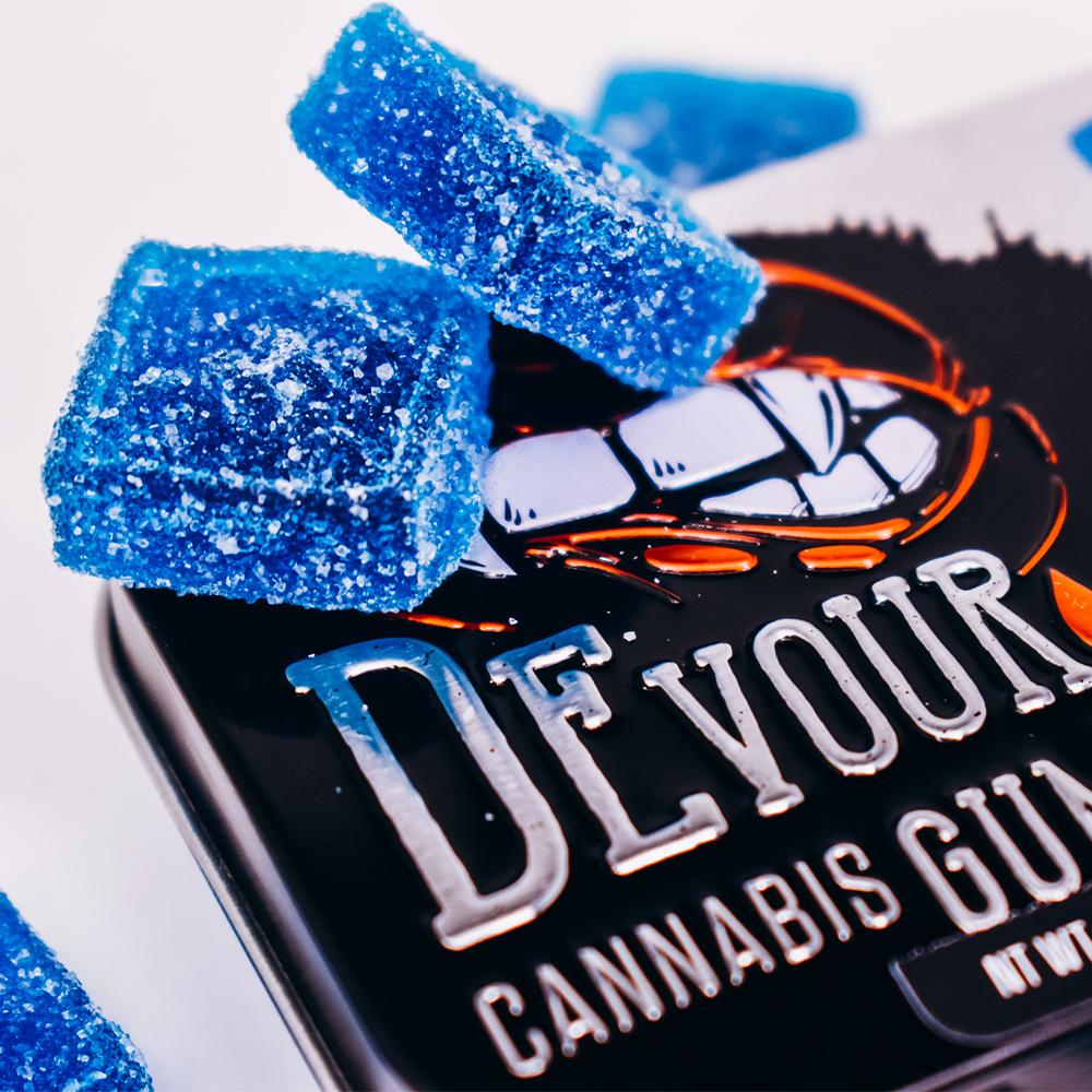 Devour Cannabis Gummies - Blue Raspberry